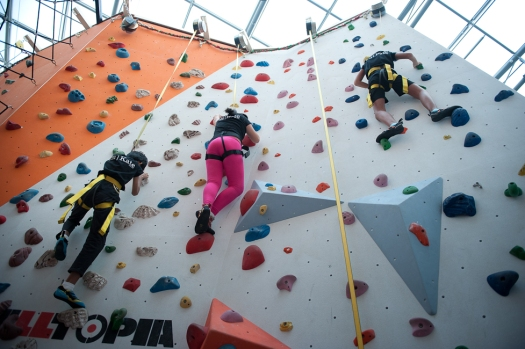 being competitive and coming back strong is an important character trait. Primary students at Climb Central finds it tough to reach the top, but fights through the mental barrier and goes to the top