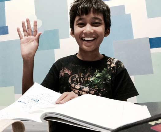 PSLE Singapore Maths Student in eduKate Singapore Tuition Centre Our typically Happy and optimistic students learns more when empowered and encouraged in all the right places.