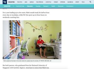 Mark Sim Straits Times extract