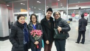 We landed in Almaty to teach English and an exchange with international students of Prof Sholpan.