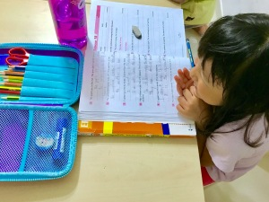 Happy Punggol Students learning English Tuition Class