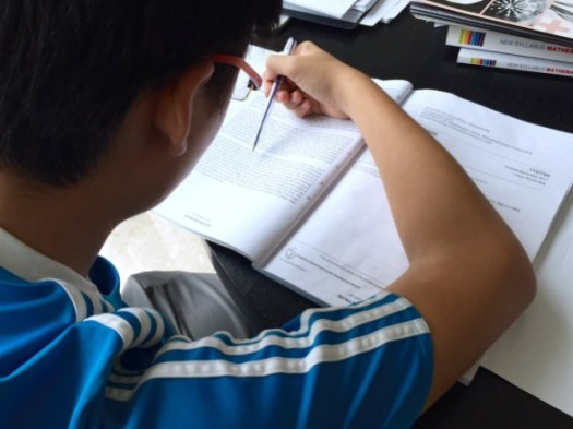 English Tuition in Punggol, student attempts the GCE O level past year papers