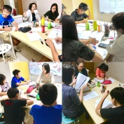 Small Group Punggol Tuition Centre with classes working and enjoying their lessons. Tutors will go through all their work, mark it and make sure their working is to standard.
