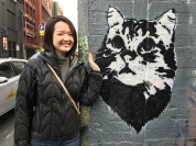 Melbourne Street Art, Cat graffiti found all over the city.