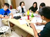Punggol Secondary 2 Maths Tuition with students learning advanced Algebra and application to Mensuration
